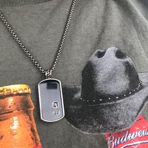 David Yurman Jewelry - David Yurman Onyx Dog Tag Necklace